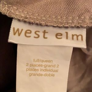 West Elm Bedding - West Elm Dip-Dye Linen Cotton Blend Duvet Cover